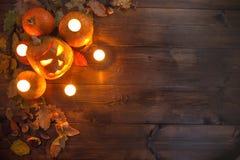 Halloween felice! Il concetto della festa, natura morta di autunno immagine stock libera da diritti