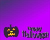 Halloween felice nella viola Fotografia Stock Libera da Diritti