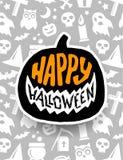 Halloween felice Progettazione spaventosa dell'insegna di vettore Immagini Stock