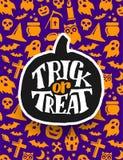 Halloween felice Progettazione spaventosa dell'insegna di vettore Fotografie Stock Libere da Diritti