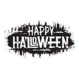 Halloween felice Testo disegnato a mano di lerciume, iscrizione digitale immagine stock