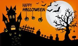 Halloween feliz ilustração do vetor