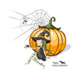 Halloween feliz! Fotos de Stock Royalty Free