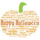 Halloween feliz e outras palavras assustadores Fotografia de Stock