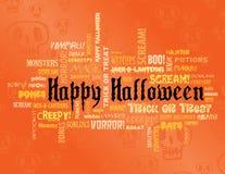 Halloween feliz e outras palavras assustadores Imagem de Stock Royalty Free