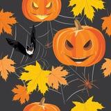 Halloween feliz Fundo sem emenda para o projeto Imagens de Stock Royalty Free