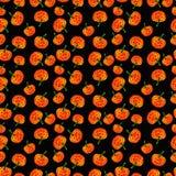 Halloween feliz Teste padrão sem emenda das abóboras Imagem de Stock