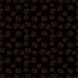 Halloween feliz Teste padrão sem emenda das abóboras Foto de Stock