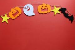 Halloween felt decoration background 2 Royalty Free Stock Photography