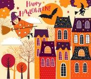 Halloween feriekort Arkivfoto