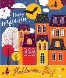 Halloween feriekort Fotografering för Bildbyråer