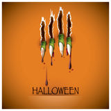 Halloween Festival Claw And Blood Background Stock Image