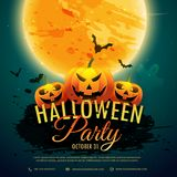 Halloween festival party background. Vector Royalty Free Stock Images