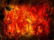 Halloween Fiery hall. Background template Royalty Free Stock Photography
