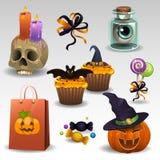 Halloween fijó 4 Fotos de archivo libres de regalías