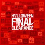 Halloween final clearance vector poster Stock Photos