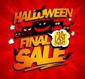 Halloween final sale advertising concept with scary bags. Halloween final sale advertising concept with scary paper bags Royalty Free Stock Photos
