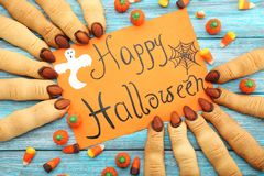 Halloween finger cookies Royalty Free Stock Photo