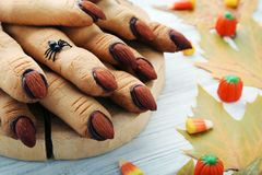 Halloween finger cookies Royalty Free Stock Photos