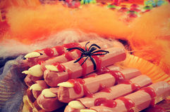 Halloween fingers Stock Image