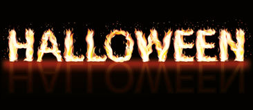 Halloween fire banner. Vector illustration Royalty Free Stock Photography