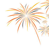 Halloween firework design Stock Image