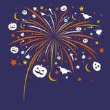 Halloween firework design Royalty Free Stock Image