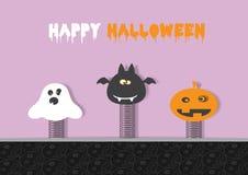 Halloween flach Stockbilder