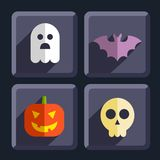 Halloween flat icons badges set Stock Photography