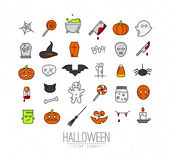 Halloween flat icons color Royalty Free Stock Photography