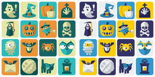 Halloween Flat Icons Royalty Free Stock Photography