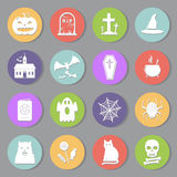 Halloween flat icons set Royalty Free Stock Photos