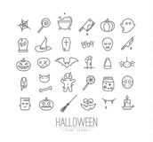 Halloween flat icons Stock Photography