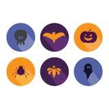 Halloween flat icons, Royalty Free Stock Photo