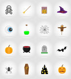 Halloween flat icons vector illustration Stock Photos