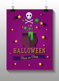 Halloween flat icons. Witches pot potion,star Stock Photo