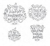 Halloween flat monograms Stock Photo