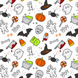 Halloween flat pattern color Royalty Free Stock Image