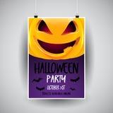 Halloween flier design. Halloween flier with cute pumpkin design vector illustration