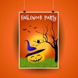 Halloween flier design vector illustration