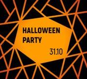 Halloween flier design vector. Orange with black vector illustration