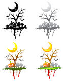 Halloween floating isle decoration set Royalty Free Stock Photo
