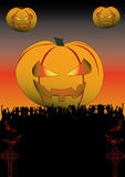 Halloween Flyer Stock Images