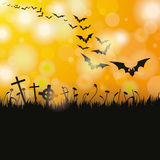 Halloween Flyer Bats Royalty Free Stock Photography