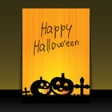 Halloween Flyer, Cover or Background Design Template Royalty Free Stock Photo