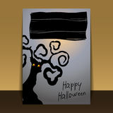 Halloween Flyer or Cover Design Royalty Free Stock Photography