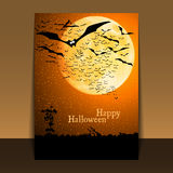 Halloween Flyer or Cover Design Stock Images