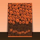 Halloween Flyer or Cover Design Stock Photos