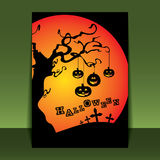 Halloween Flyer or Cover Design Royalty Free Stock Photo