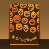Halloween Flyer or Cover Design Stock Image